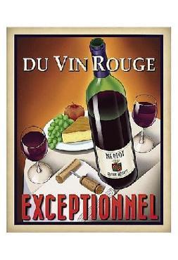 Steve Forney Du Vin Rouge Exceptionnel Canvas