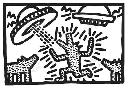 Keith Haring Untitled, 1982 (dogs With Ufos)