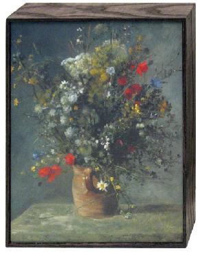 Pierre Auguste Renoir Flowers In A Vase, C. 1866 Art Block