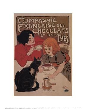 Theophile Alexandre Steinlen Compagnie Francaise Des Chocolats Canvas