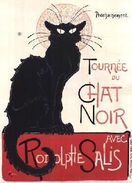 Theophile Alexandre Steinlen Tournee Du Chat Noir Canvas