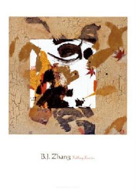 B.j. Zhang Falling Leaves Canvas