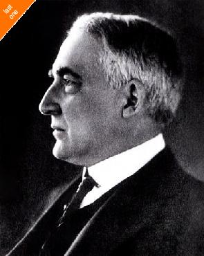 Anonymous Warren G. Harding, 29th President Of The United States Canvas LAST ONES IN INVENTORY!!