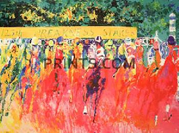 LeRoy Neiman 125th Preakness Stakes Hand Pulled Serigraph