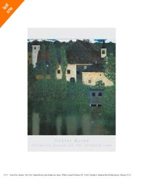 Gustav Klimt Unterach Manor On The Attersee Lake, Aus   LAST ONES IN INVENTORY!!