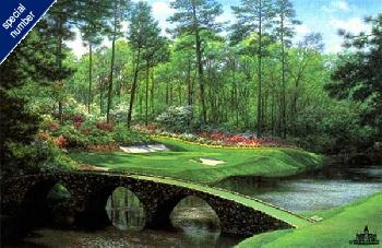 Larry Dyke The 12th At Augusta Print #55/55 Artist