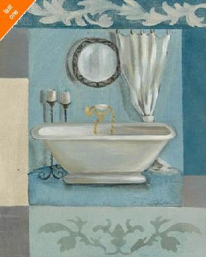 Silvia Vassileva Antique Bath II NO LONGER IN PRINT - LAST ONE!!