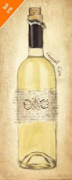Emily Adams Grand Cru Blanc Bottle Canvas LAST ONES IN INVENTORY!!