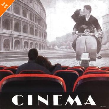 Marco Fabiano Cinema Roma Canvas LAST ONES IN INVENTORY!!