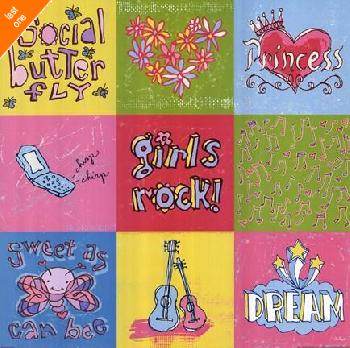 Peter Horjus Girls Rock 9 Patch NO LONGER IN PRINT - LAST ONE!!