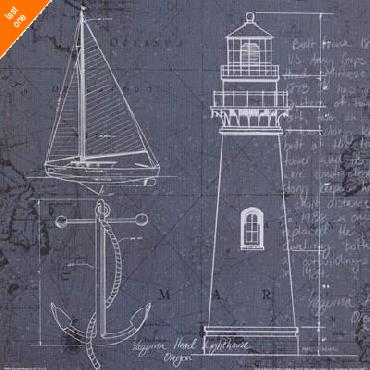 Marco Fabiano Coastal Blueprint IV Canvas LAST ONES IN INVENTORY!!