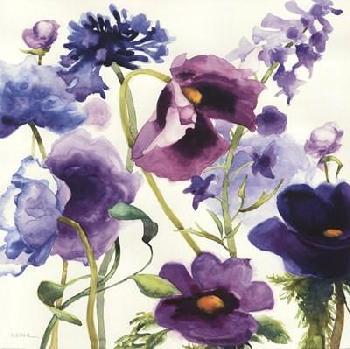 Shirley Novak Blue And Purple Mixed Garden I