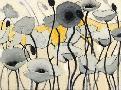 Shirley Novak Snow Day Gray Flower