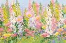 Shirley Novak Garden Pastels I Blue Sky