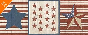 Sarah Adams Americana Stars And Stripes II NO LONGER IN PRINT - LAST ONE!!