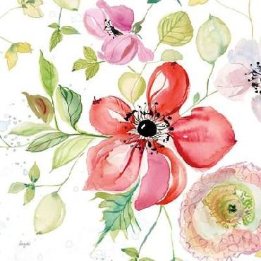 Kristy Rice Spray Of Anemones III