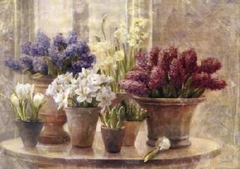 Danhui Nai Spring Bulb Still Life Canvas