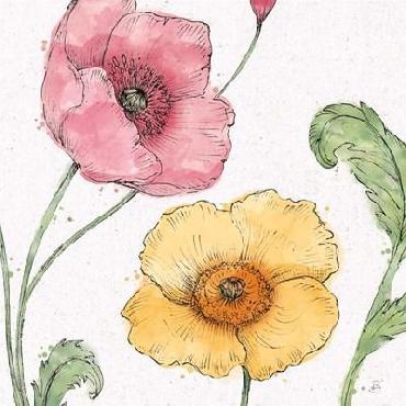 Daphne Brissonnet Blossom Sketches I Color Canvas