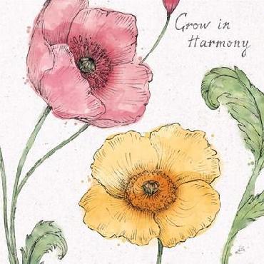 Daphne Brissonnet Blossom Sketches I Words Color Canvas