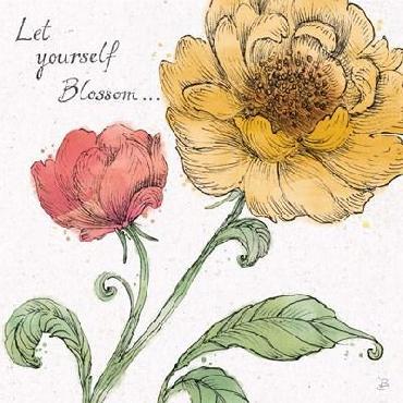Daphne Brissonnet Blossom Sketches III Words Color