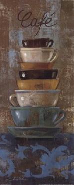 Silvia Vassileva Antique Coffee Cups I Canvas