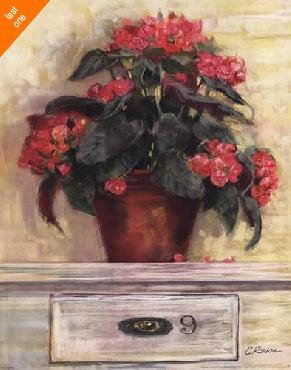 Carol Rowan Begonias Canvas LAST ONES IN INVENTORY!!