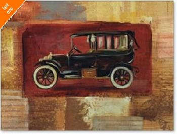 Silvia Vassileva Vintage Car II NO LONGER IN PRINT - LAST ONE!!