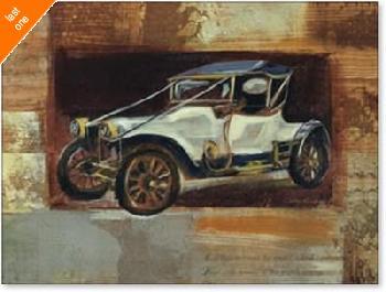 Silvia Vassileva Vintage Car IV NO LONGER IN PRINT - LAST ONE!!