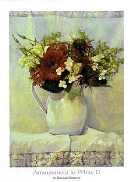 Deborah Chabrian Arrangement In White II Canvas