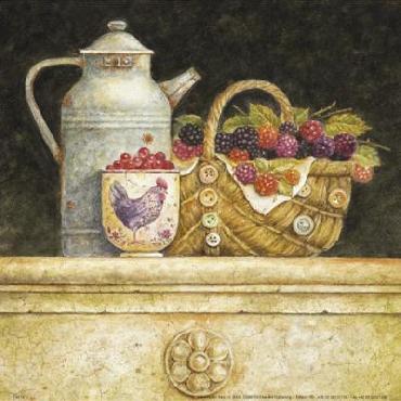 Эрик Barjot ягоды и обелить Холст