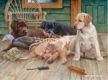 James Killen Breaktime III - Lab Puppies Artist
