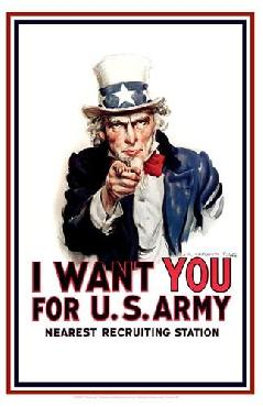 James Montgomery Flagg Uncle Sam   -  I Want You Canvas
