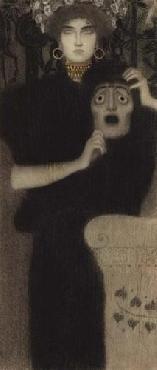 Gustav Klimt Study For The Allegory Of Tragedy