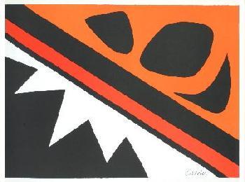 Alexander Calder La Grenouille Et La Scie Lithograph Edition of 250