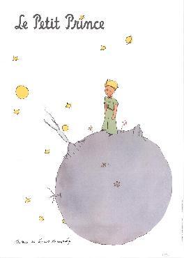 Antoine De Saint Exupery Le Petit Prince Et Son Asteroide Offset Lithograph
