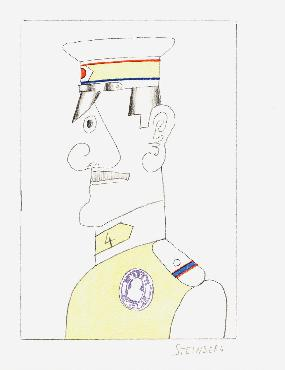 Saul Steinberg Illustration V From All Except You Lithograph Edition of 100