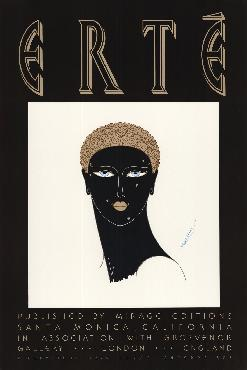 Erte Queen Of Sheba Offset Lithograph
