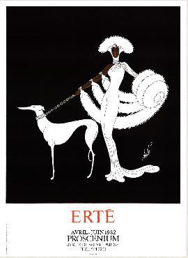 Erte Symphony In White (proscenium) Offset Lithograph