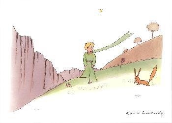 Antoine De Saint Exupery Le Petit Prince Et Le Renard Lithograph Edition of 100