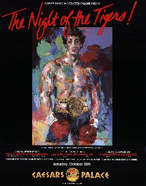 LeRoy Neiman Night Of The Tigers Offset Lithograph