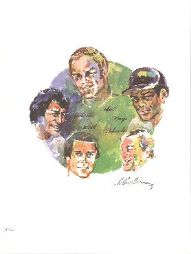 Leroy Neiman Sports Legends Offset Lithograph Edition of 300