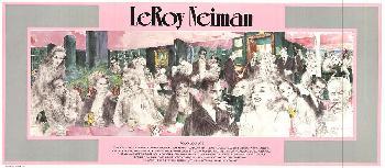 Leroy Neiman Polo Lounge Offset Lithograph