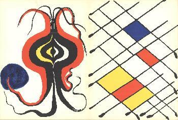 Alexander Calder Derriere Le Miroir No. 156 Lithograph Edition of 800