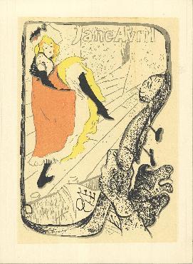 Henri De Toulouse-lautrec Jane Avril Lithograph