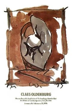 Claes Oldenburg Study For Standing Mitt 1973 Offset Lithograph Edition of 1000