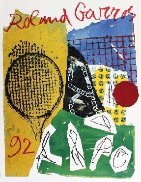 Jan Voss Roland Garros Offset Lithograph Edition of 2000