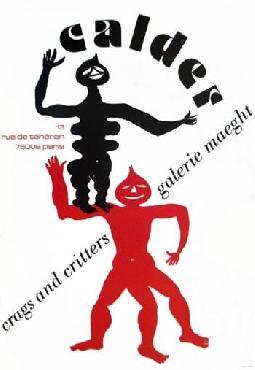 Alexander Calder Crags & Critters, 1975 Lithograph