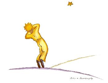 Antoine De Saint Exupery Little Prince Yawning (lg) Lithograph Edition of 300