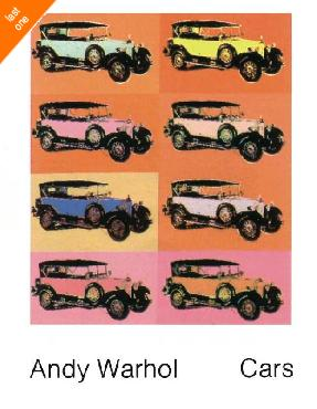 Andy Warhol Mercedes Type 400 8 images NO LONGER IN PRINT - LAST ONE!!