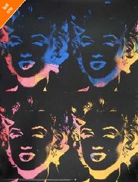 Andy Warhol Four Multicolored Marilyns NO LONGER IN PRINT - LAST ONE!!